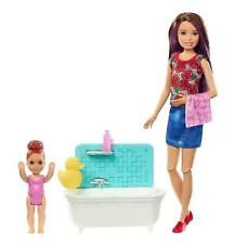 Barbie Skipper Babysitters Doll Bathtime Playset