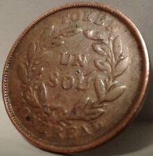 1836-1838 LOWER CANADA BANK of MONTREAL UN SOU TOKEN