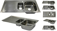 Kukoo Kitchen Sink 1.5 Bowl Stainless Steel Kitchen With Reversible Double Basin