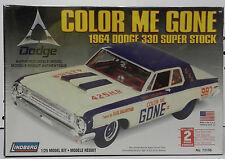 1964 DODGE 330 BOYS COLOR ME GONE SUPER STOCK DRAG RACING CAR LINDBERG MODEL KIT