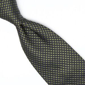 Banana Republic Soie Homme Cravate Ton sur Ton Vert à Pois Texturé Pois Cravate