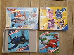 Kids jigsaw Puzzles  Disney Planes x 2 and  a sealed Lazy town X4 Ravensburger