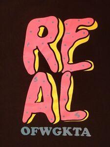 Youth M Real Skateboards X Odd Future OFWGKTA Donut T-Shirt WORN ONCE Wolf Gang