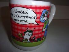 Hallmark Large 3D Maxine Coffee Mug Cup I Baked Its a Christmas Miracle
