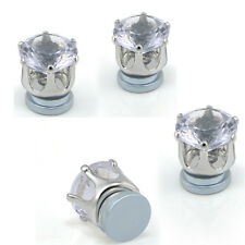 Men's Magnetic Clip On Earrings Crystal Rhinestone No Piercing Ear Stud Jewelry