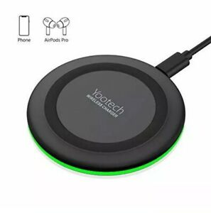 Yootech Wireless Charger,Qi-Certified 10W Max Fast wireless Charging Pad