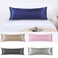 Satin Body Pillow Cover Luxury Soft Silk Pillowcase Full for Bedding 20*54inch