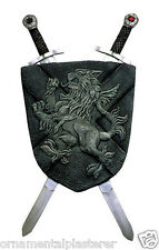 Medieval Shield And Crossed Sword Wall Hanging Decoration