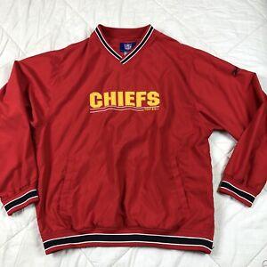 NFL Reebok Jacket Chiefs Football Kansas City Jacket Large Red