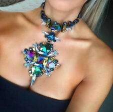 Hot Sale Fashion Crystal Statement Choker Collar Pendant Necklace for Women