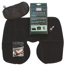 Travel Comfort Kit 3 Pcs Neck Pillow Eye Mask Ear Plugs