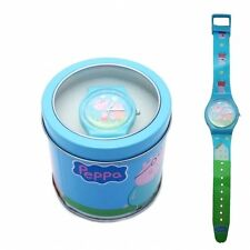 Official Licensed Disney Boys & Girls Wrist Watches in Tin Case Gift Set Peppa Pig 'family Fun'