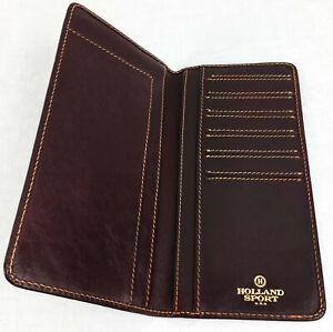 Holland Mulholland Brothers Breast Pocket Wallet Oxblood Cordovan
