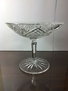 """Vintage Waterford Crystal Ireland Hobstar Footed Compote Candy Dish 5 1/4"""""""
