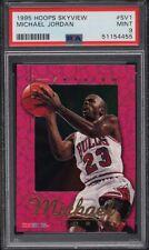 1995 NBA Hoops Michael Jordan SkyView PSA 9 Mint Insert Chicago Bulls #sv1