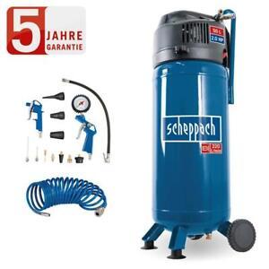 Scheppach Druckluft Kompressor 50L Luftkompressor 10bar 2PS + 13tlg. Set HC51V