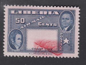 Liberia # C69 MNH Shifted Center ERROR Ashman Map