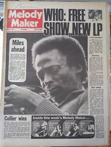 Melody Maker June 26th '71 - Miles Davis Jethro Tull Jimmy Cliff Juicy Lucy Who