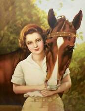 Woman and Horse ADELAIDE HIEBEL