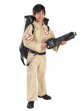 Classic Ghostbusters Costume for Kids Size Large with Inflatable Backpack