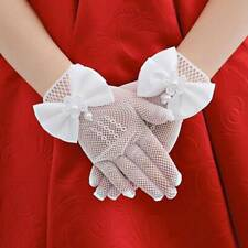 Lace White Clean Children Short Gloves Wedding Flower Party Princess Durable Qk