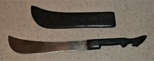 Machete Mole Birmingham England Steamer Blade Folk Art Handle Scabbard 350L M