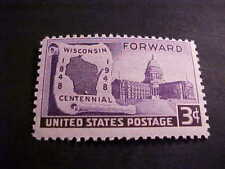 Scott # 957 Wisconsin Statehood Unused OGNH