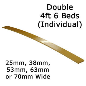 Double 4ft6 - 25mm, 38mm, 53mm, 63mm or 70mm wide Sprung Bed Slats - Individual