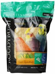 RoudyBush Daily Maintenance Bird Food, Crumbles, 10-Pound