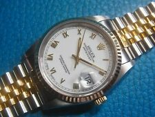 Rolex 16233 Oyster Datejust Ceramic White Dial Automatic Watch (Good Condition)