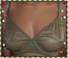 36C Green Olive FIR GEO Mesh Body by Victorias Secret unLined DEMI UW Bra RARE