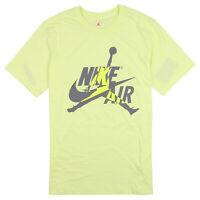 JORDAN x Nike Hybrid Logo T-Shirt sz X-Large Luminous Green Gray Jumpman Air Max
