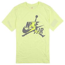 JORDAN x Nike Hybrid Logo T-Shirt sz Medium Luminous Green Gray Jumpman Air Max