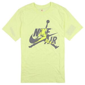 JORDAN x Nike Hybrid Logo T-Shirt XX-Large Luminous Green Gray Jumpman Air Max