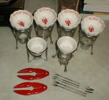 Lot-13 Lobster-Crab Cute Butter Warmers Claw Shell Crackers & Meat Forks