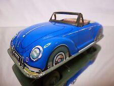 HÖFLER TIN TOYS BLECH VW VOLKSWAGEN BEETLE CABRIOLET - BLUE - GOOD CONDITION