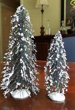 LEMAX LARGE & MEDIUM NEEDLE PINE TREES (SET OF 2) - Excellent Condition
