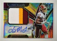 2019 Select Jumbo Rookie Signature Swatches Tie-Dye Prizm #TM Terry McLaurin /15