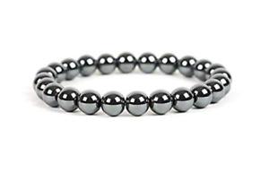 AAA+100% Natural Hematite 8mm Beads 1 Adjustable Bracelet For Men & Women E40