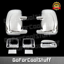 For Ford F-250 99-06 Chrome Mirror, Door Handle & Tailgate Cover 2Drs