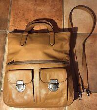 Fossil Handtasche Leder crossover braun Reißverschluss super Zustand sieheBilder