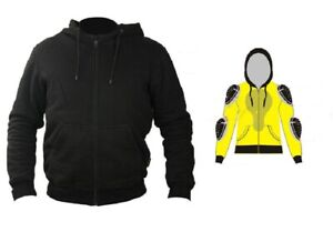 SGI Herren Damen Motorrad Biker Hoodie Jacke T-Shirt 5x Protektorentaschen NEU