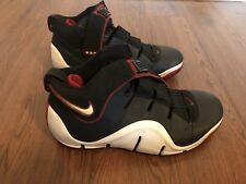 Air Lebron James Iv 2006 Black Crimson Basketball Shoes Mens 12