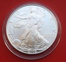 "Amerika: 1 Uz.-Oz ""Silver Eagle""  2006 Seidenmatt, ST-BU,  #F 2034"