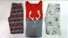 NWT Lot of 4 Women's Holiday Fox Owl Reindeer Llama Pajama Tops & Pants Small