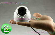 "700TVL 1/3""SONY CCD Effio CCTV Security 12IR Outdoor MINI DOME WHITE Camera 998+"