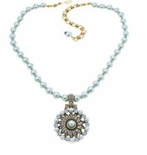 Heidi Daus Relaxed and Refined Beaded Crystal Drop Necklace (Light Blue) 527203