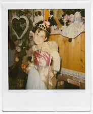 Found Polaroid PHOTO Little Girl In Princess Costume w/ Dolls