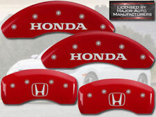 2004 Honda CR-V CRV EX LX Front + Rear Red MGP Brake Disc Caliper Covers H