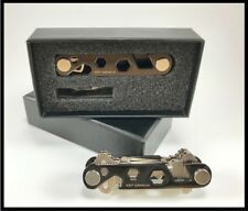 Key Chain Holder & Organizer w/Built In Bottle Opener, Phone Stand &Wrench-Black